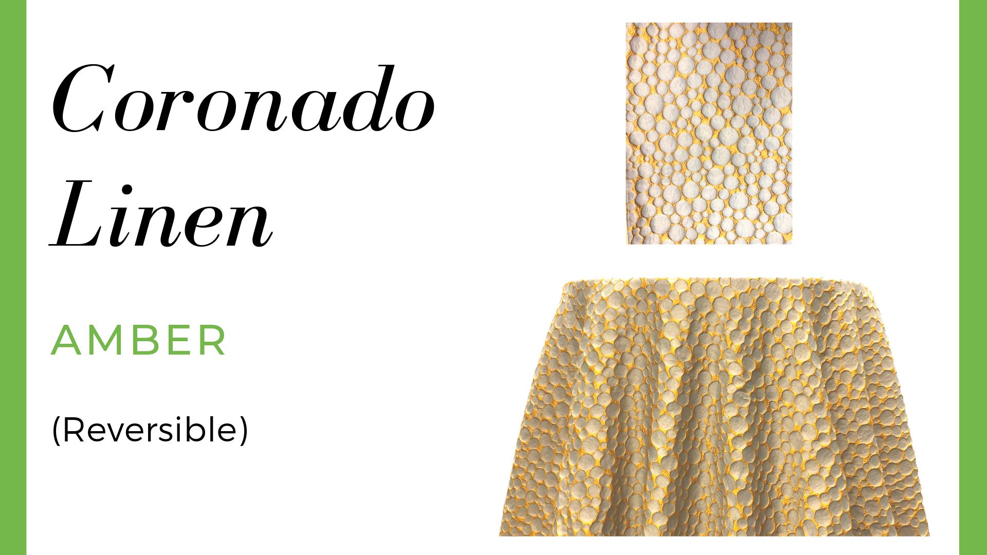 Coronado Linen - Amber (Reversible)
