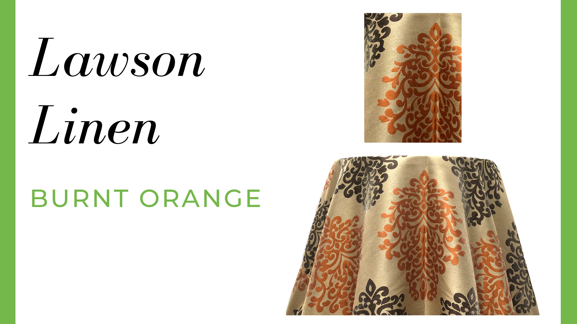 Lawson Linen - Burnt Orange