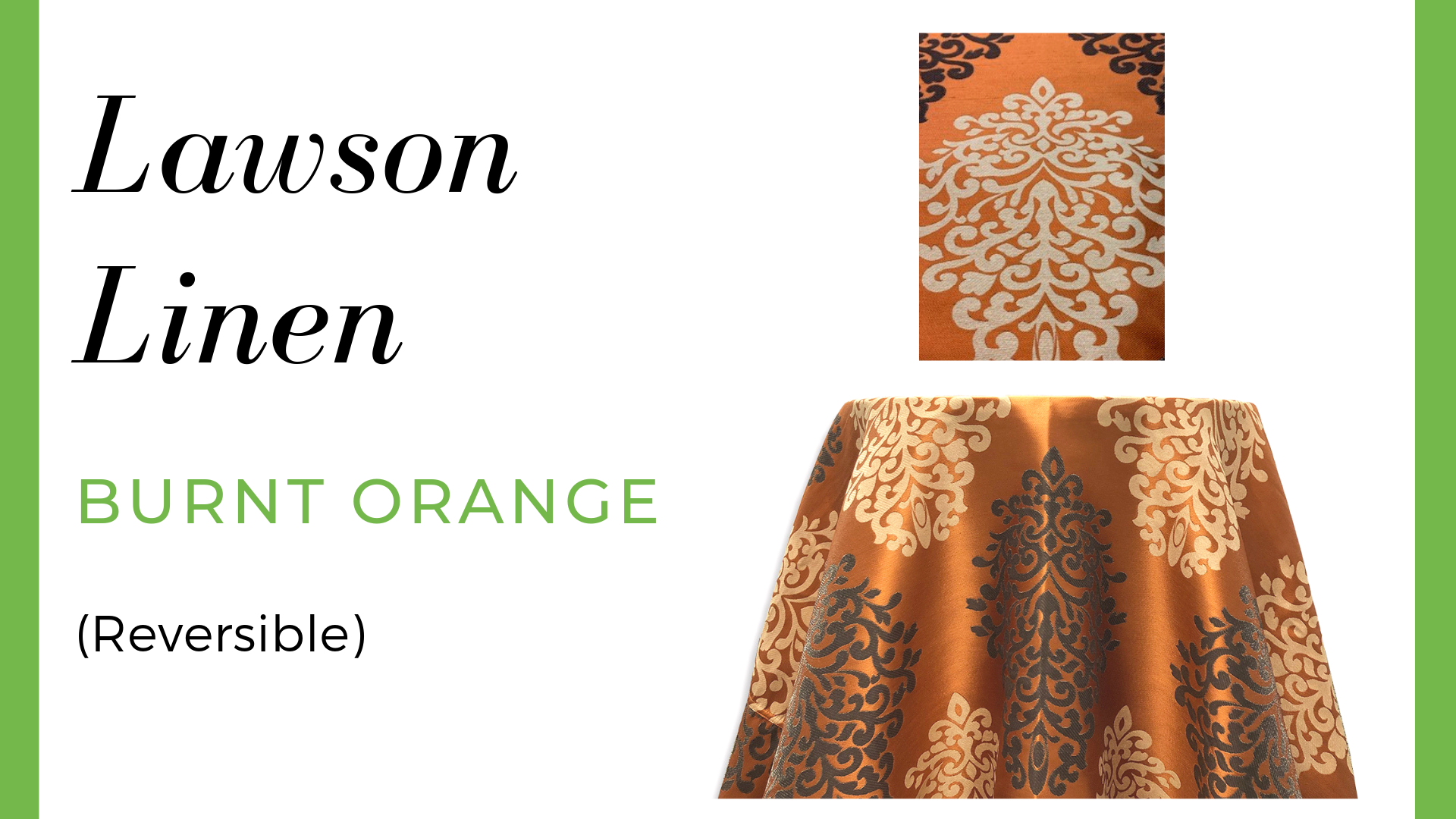 Linen Lawson Linen – Burnt Orange (Reversible)
