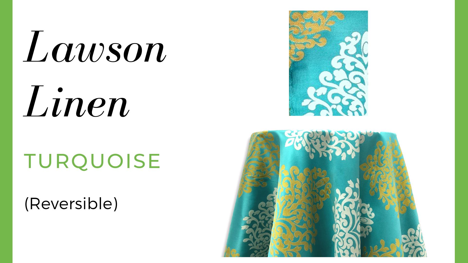 Lawson Linen - Turquoise (Reversible)