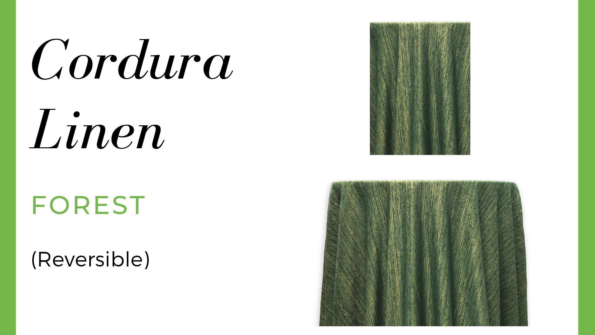 Linen Cordura Linen – Forest (Reversible)
