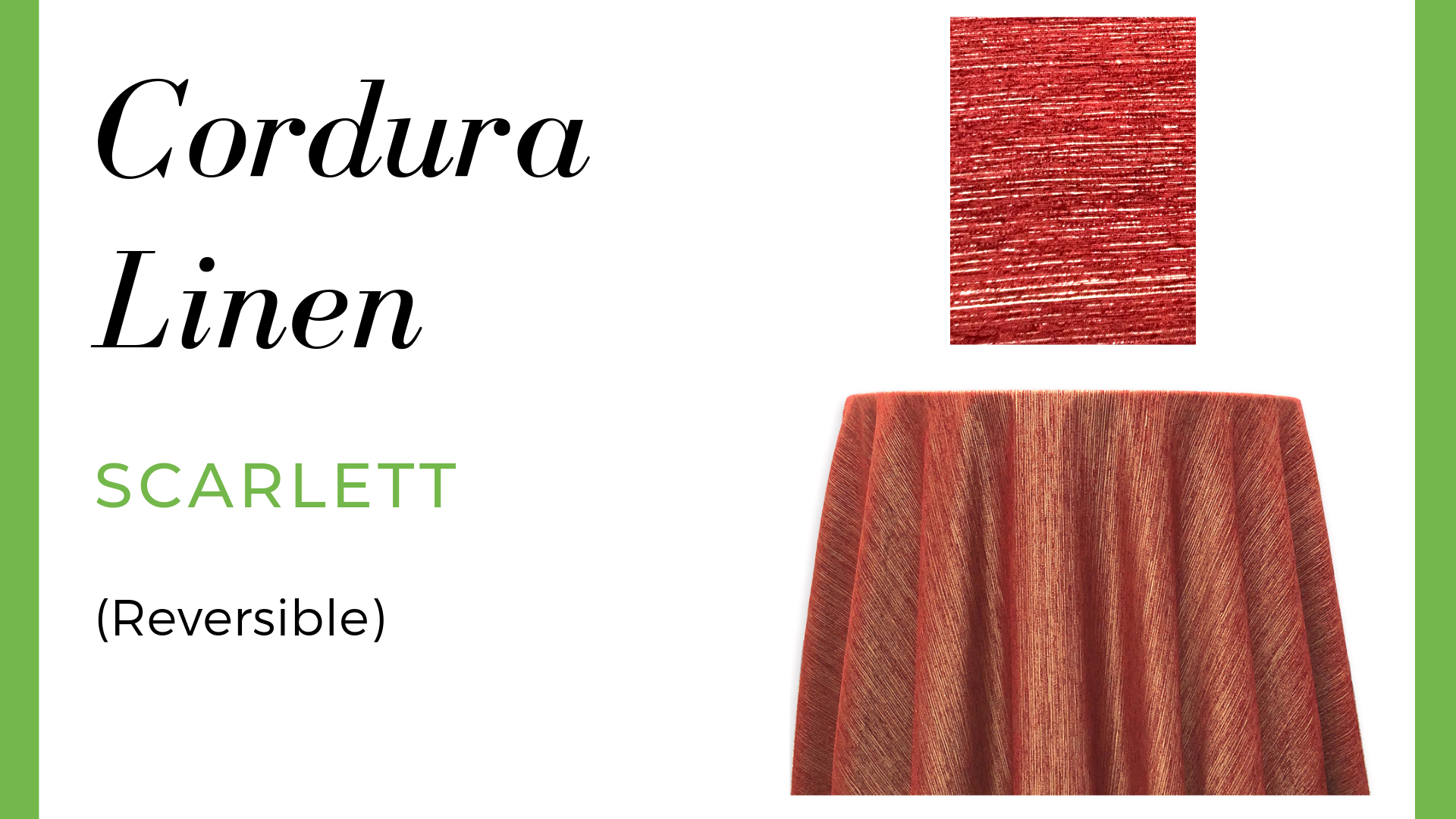Linen Cordura Linen - Scarlett (Reversible)