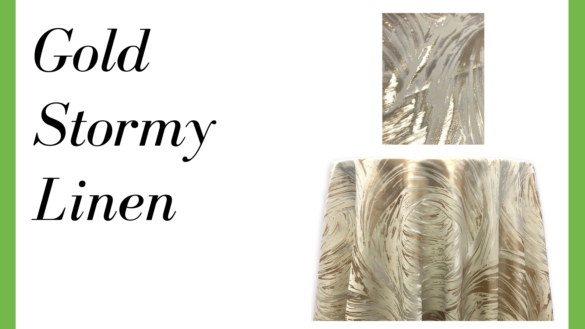Gold Stormy Linen