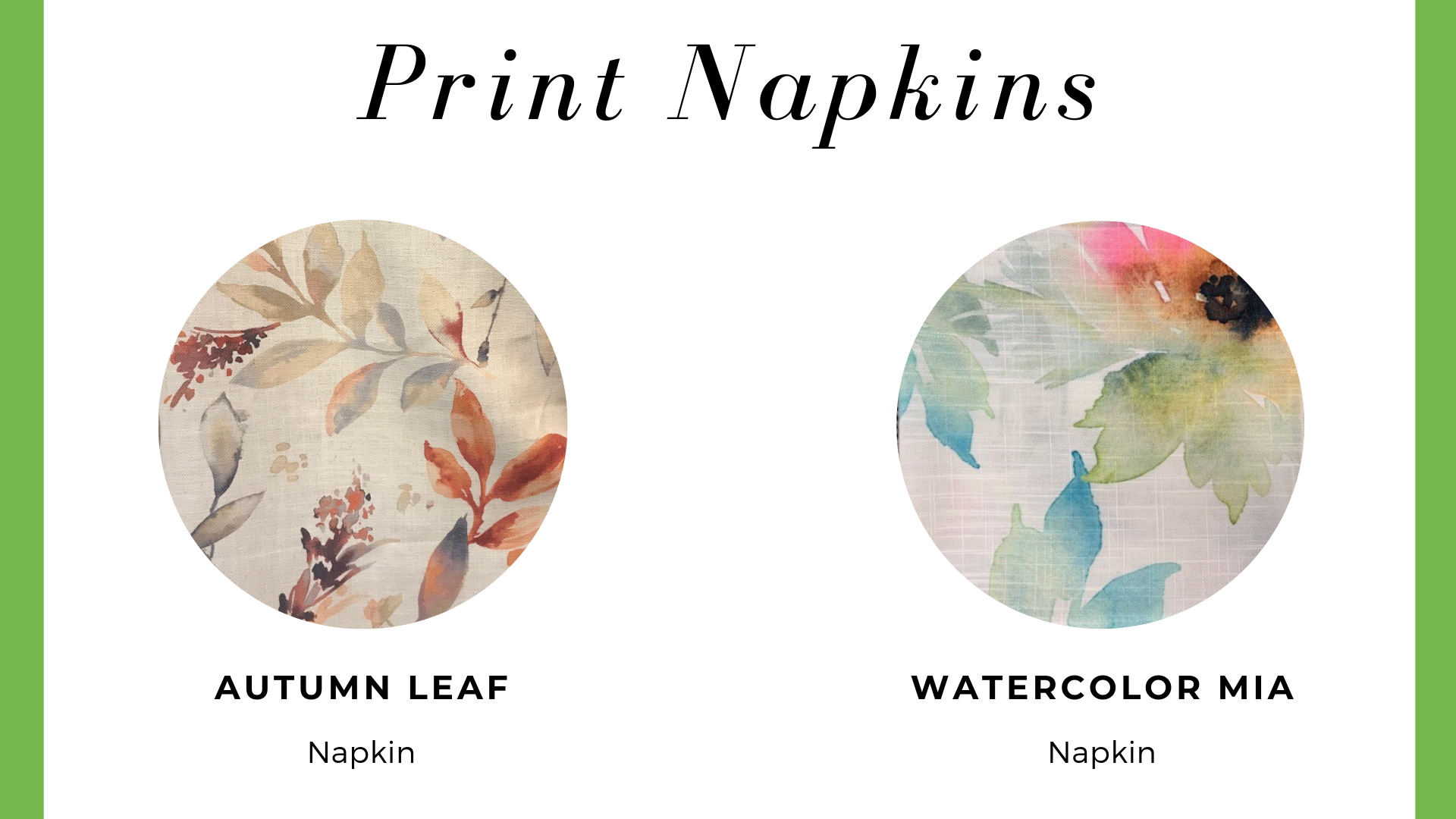Print Napkins
