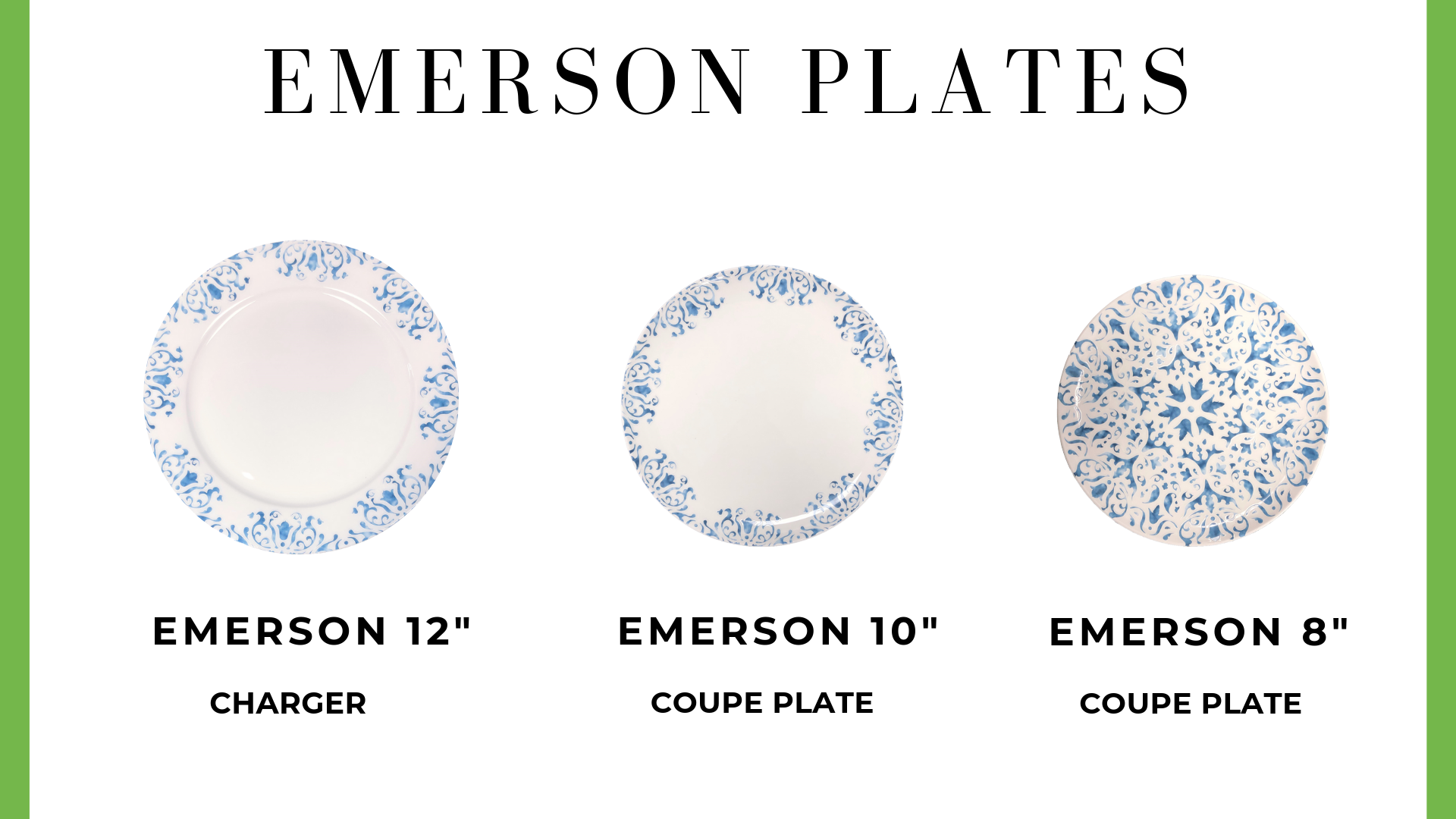 Emerson Charger + Plates