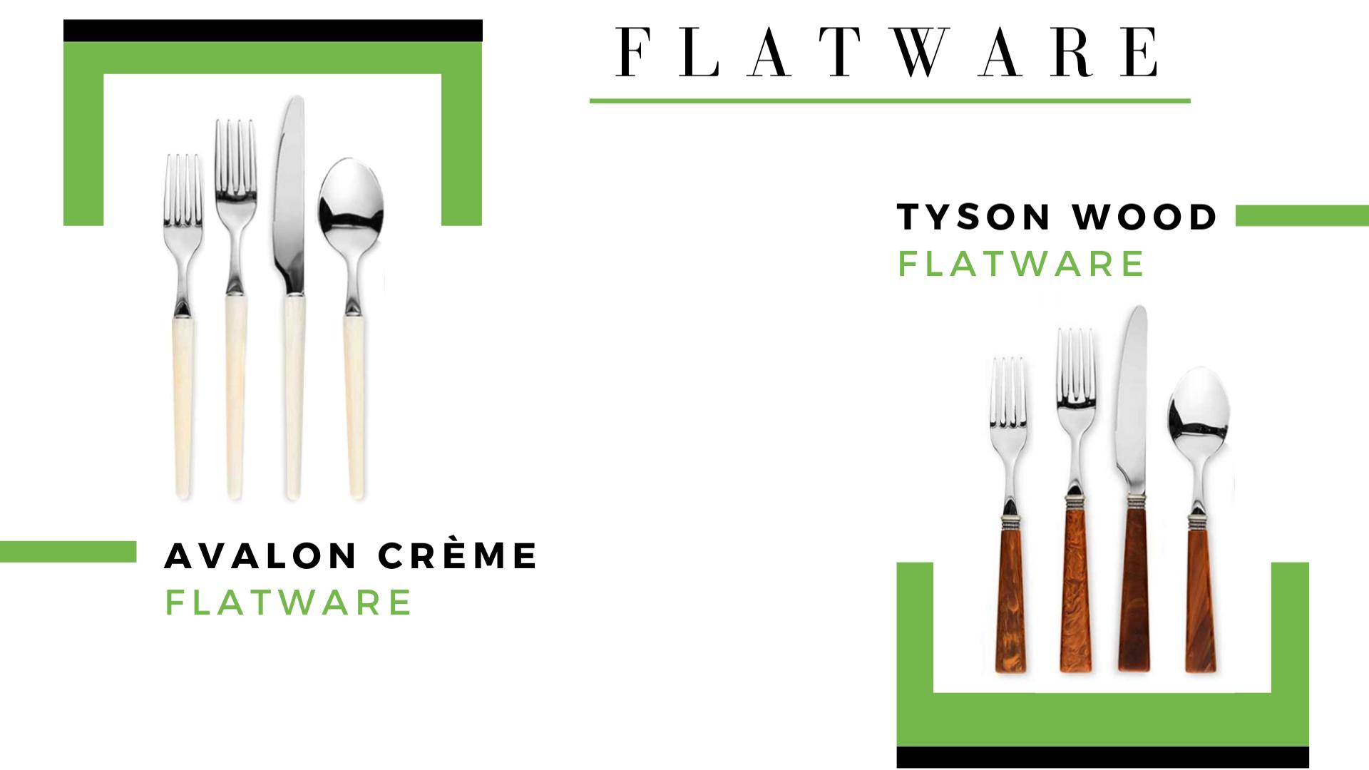 Avalon Creme + Tyson Wood Flatware