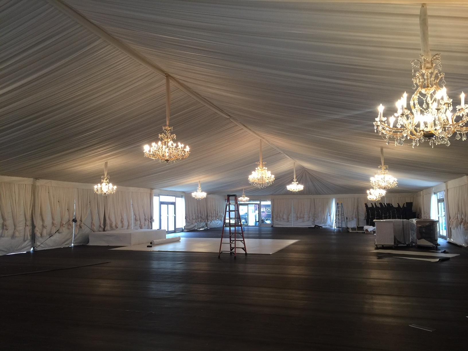 Childress Wedding Tent Install