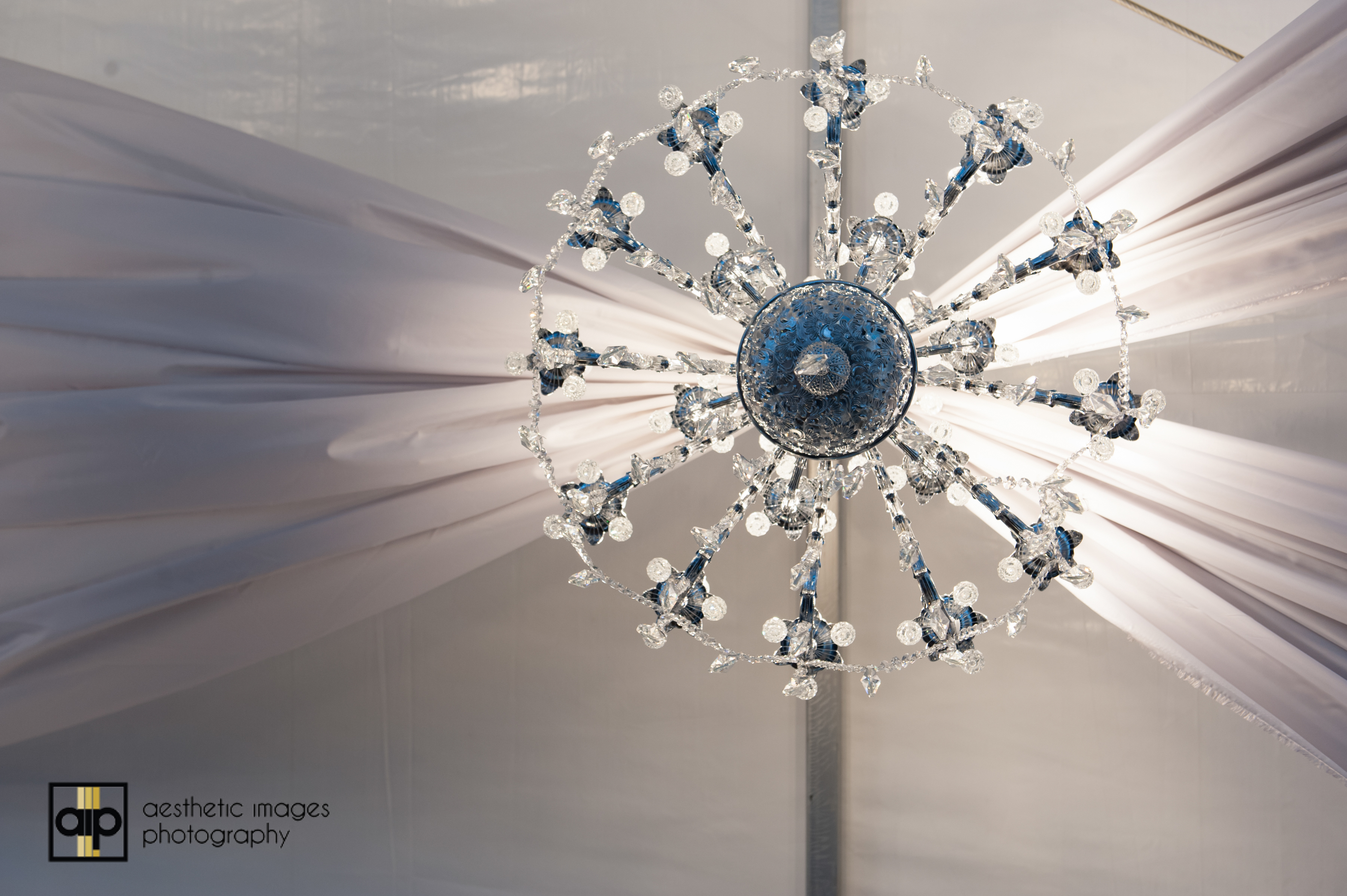 GBO Client Event Tent Chandelier