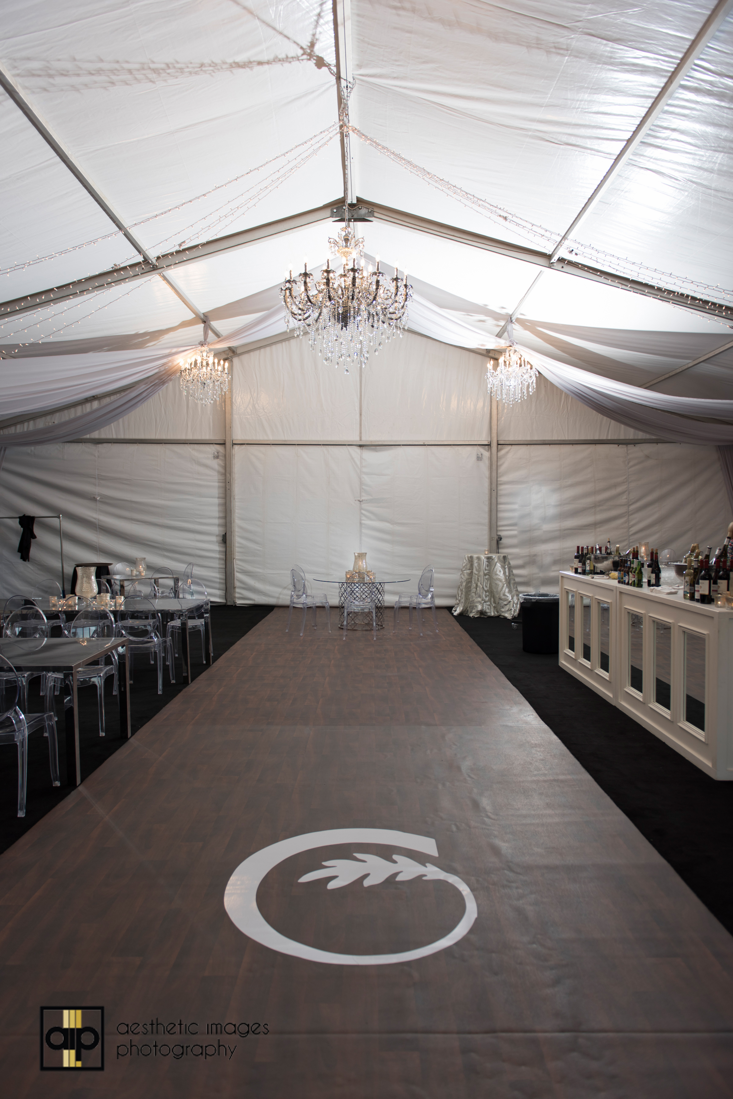 GBO Client Tent Eventflex with decal