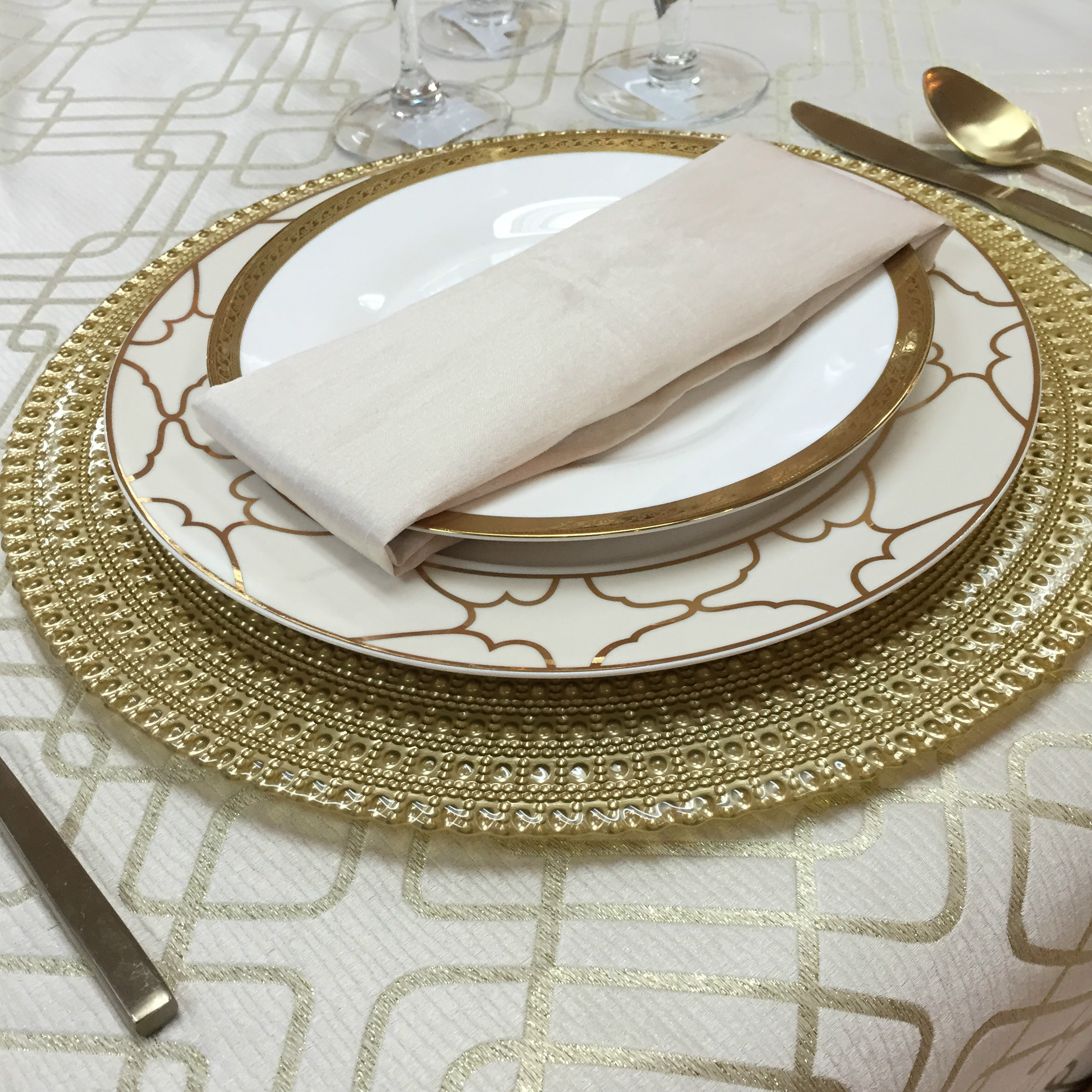 Gold Medallion Table Top