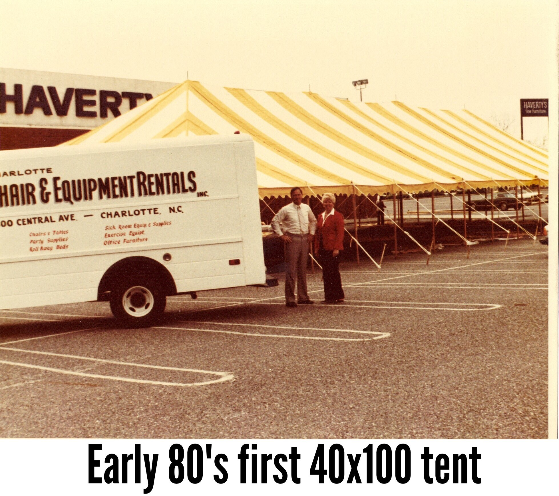 1st 40'X100' tent purchased by Party Reflections