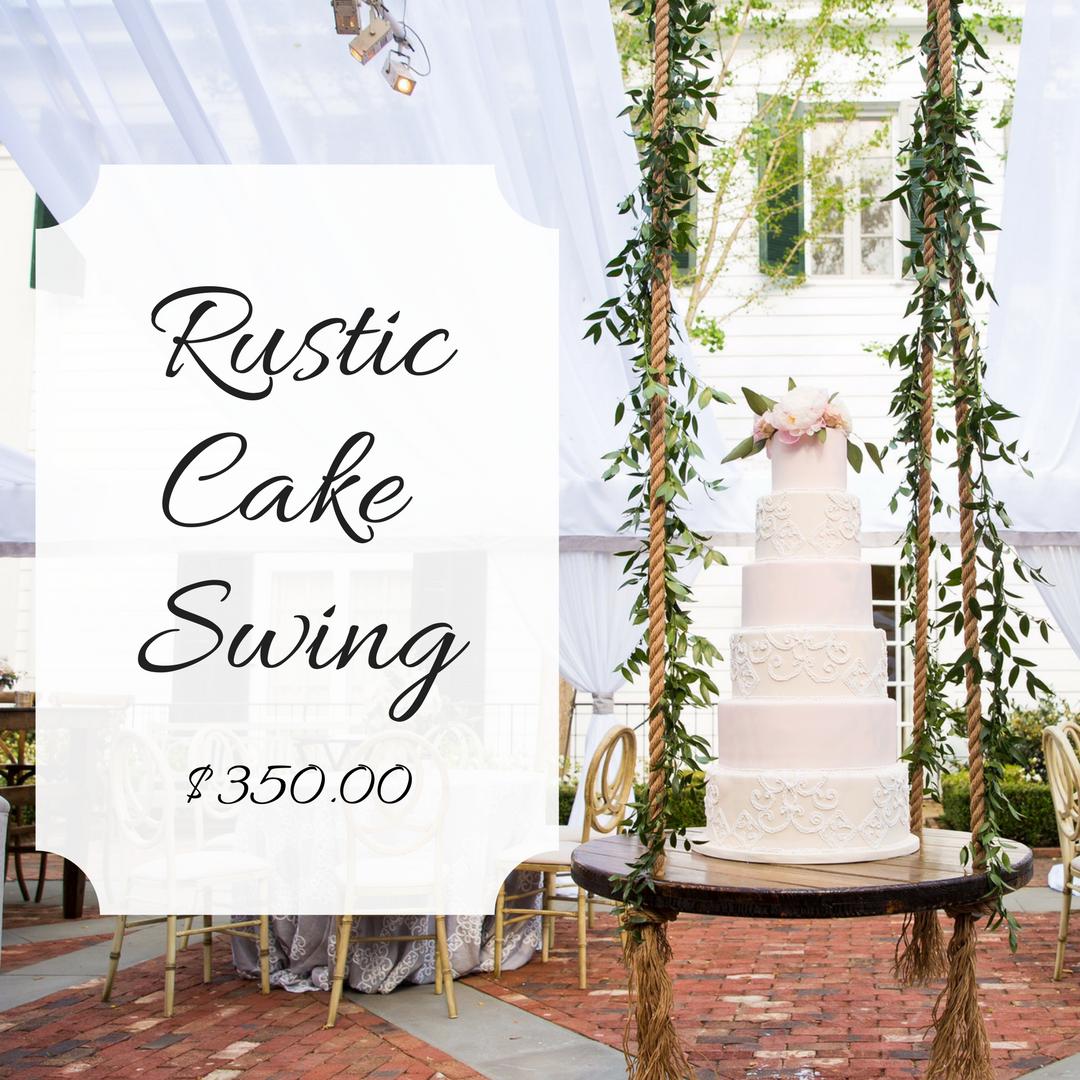 Rustic Cake Swing