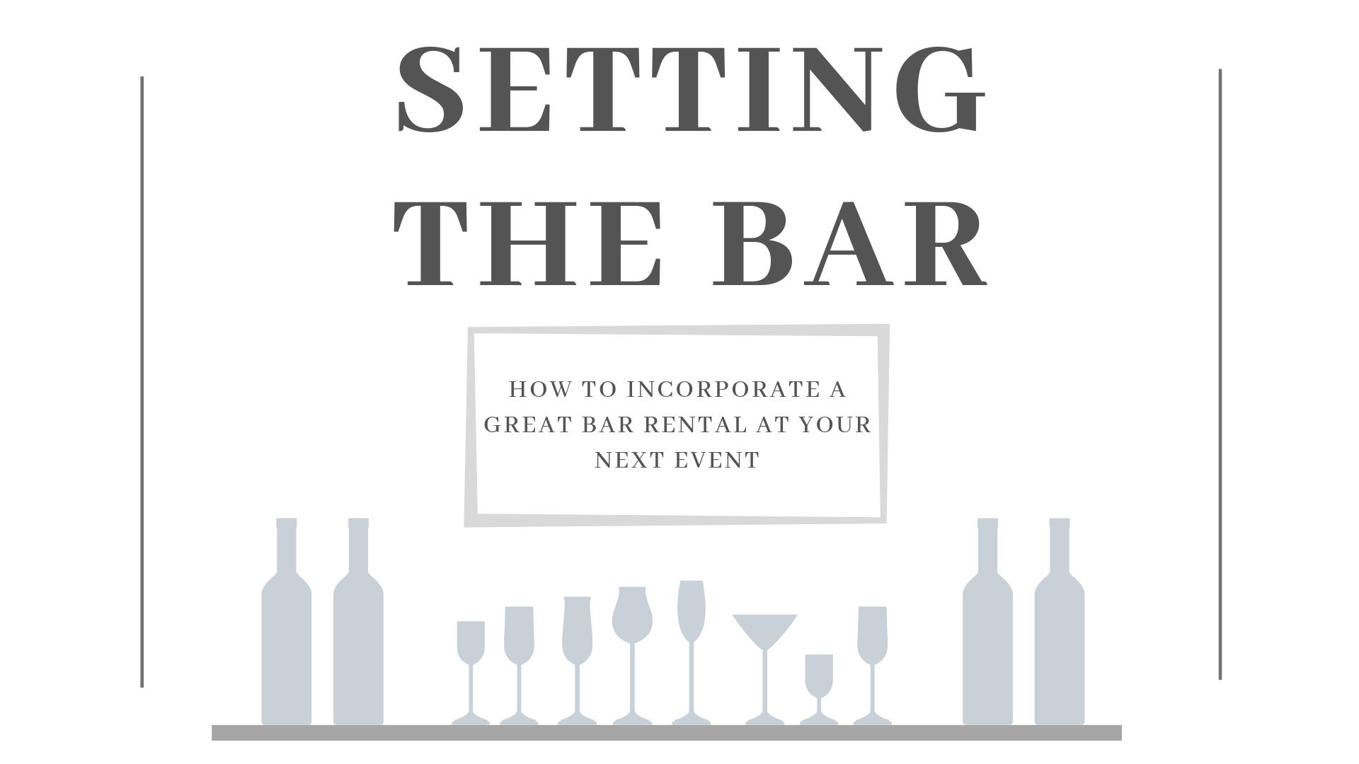 Setting The Bar