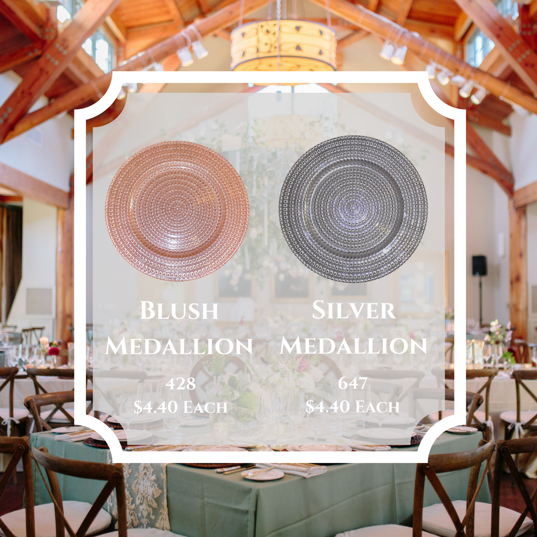 Silver & Blush Medallion Charger